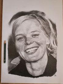 Schwarzweiß, Portrait, Bleistiftzeichnung, Zeichnungen
