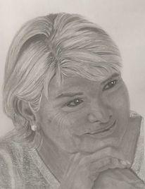 Bleistiftzeichnung, Frau, Zeichnungen, Portrait