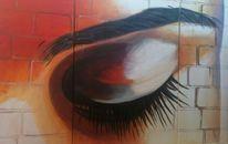 Tryptichon, Augen, Geschlossen, Malerei