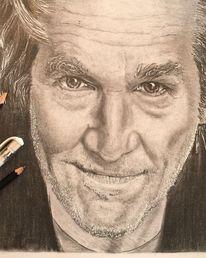 Bleistiftzeichnung, Brücke, Schauspieler, Portrait