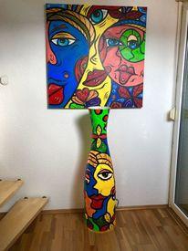 Körper, Malerei, Frau, Abstrakt