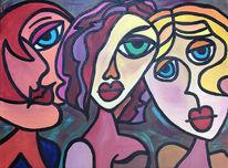 Gesicht, Menschen, Abstrakt, Frau