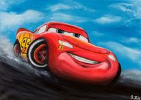 Auto, Rot, Ölmalerei, Schnell