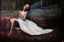 Wald, Märchen, Frau, Traumhaft