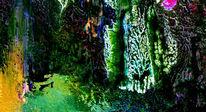 Tuschmalerei, Fotopapier, Abstrakt, Monotypie