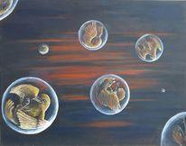 Vogel, Universum, Vision, Malerei