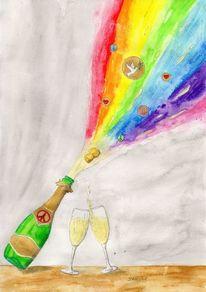 Sylvestergruß, Frieden, Liebe, Neujahr