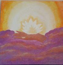 Heiler, Spirituell, Acrylmalerei, Reiki