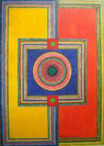 Preis vh, Abstrakt, Acrylmalerei, Farbstudie