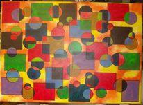 Abstrakt, Acrylmalerei, Preis vh, Kreis