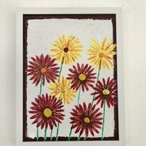 Blumen, Fantasie, Acrylmalerei, Acrylkunst