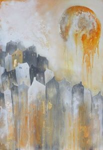 Malen, Acrylmalerei, Mischtechnik, Abstrakt