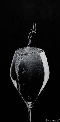 Stillleben, Champagner, Acrylmalerei, Fest