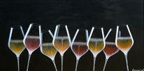 Acrylmalerei, Fest, Stillleben, Wein