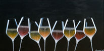 Luxus, Sekt, Champagnerglas, Gold