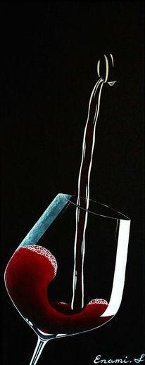 Weinglas, Weinflasche, Wein, Luxus