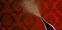 Rotwein, Barock, Acrylmalerei, Gold