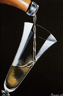 Schaumwein, Acrylmalerei, Champagner, Sekt