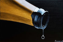 Weinflasche, Champagner, Wein, Acrylmalerei