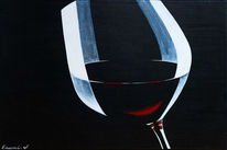 Rotwein, Wein, Schwarz, Weinglas