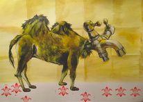 Kamel, Malerei, Wüstenhahn, Hahn