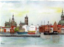 Stralsund, Ostsee, Hansestadt, Altstadt