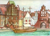 Wismar, Ostsee, Hansestadt, Altstadt