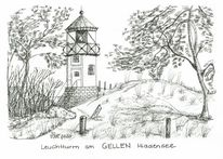 Ostsee, Hiddensee, Insel, Leuchtturm