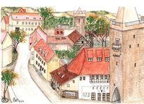 Jena, Thüringen, Johannistor, Pulverturm