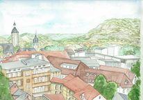 Stadtansicht, Deutschland, Architektur, Jena