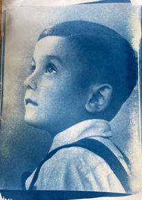 Cyanotopy, 40er jahre, Kleiner junge, Fotografie