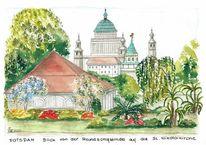 Stadtansicht, Brandenburg, Kirche st, Freundschaftsinsel