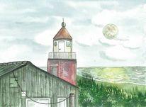 Ostsee, Insel, Leuchtturm, Fischland