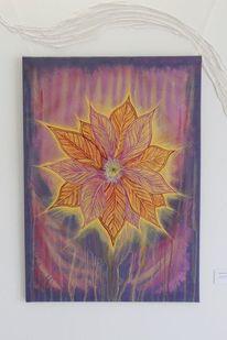 Mischtechnik, Fantasie, Blumen, Malerei