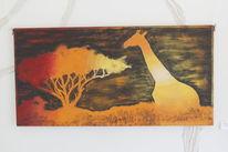 Afrika, Abstrakt, Baum, Giraffe