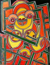 Kreis, Halbkreise, Experimentell, Malerei