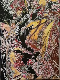 Tiefsee, Korallen, Pflanzen, Malerei