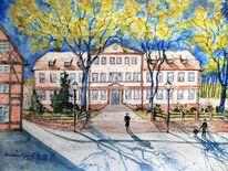 Architektur, Frühling, Verwaltungsbauten, Fachwerk