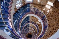 Treppe, Fotografie, Stufe, Blau