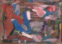 Abstrakte malerei, Abstrakter expressionismus, Rosa, Gouachemalerei
