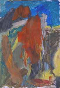 Landschaft, Abstrakt, Abstrakter expressionismus, Abstrakte malerei