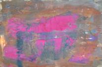 Informel, Abstrakte malerei, Abstrakter expressionismus, Rosa