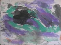 Abstrakter expressionismus informel, Malerei, Abstrakt, Lila