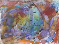 Abstrakte malerei, Abstrakter expressionismus, Aquarellmalerei, Gouachemalerei