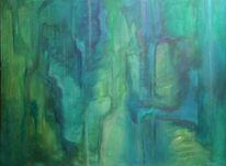 Grün, Malerei, Blau, Abstrakt