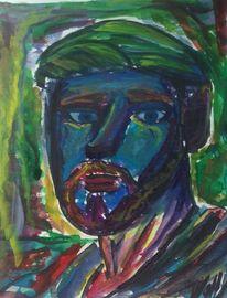 Menschen, Portrait, Aquarellmalerei, Aquarell