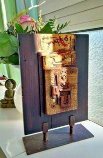 Holz, Keramik, Blattgold, Skulptur