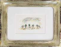 Meyer, Romantisch, Landschaft, Temperamalerei