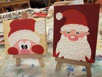 Acrylmalerei, Struktur, Weihnachtsmann, Malerei