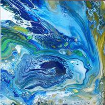 Grün, Blau, Gelb, Malerei
